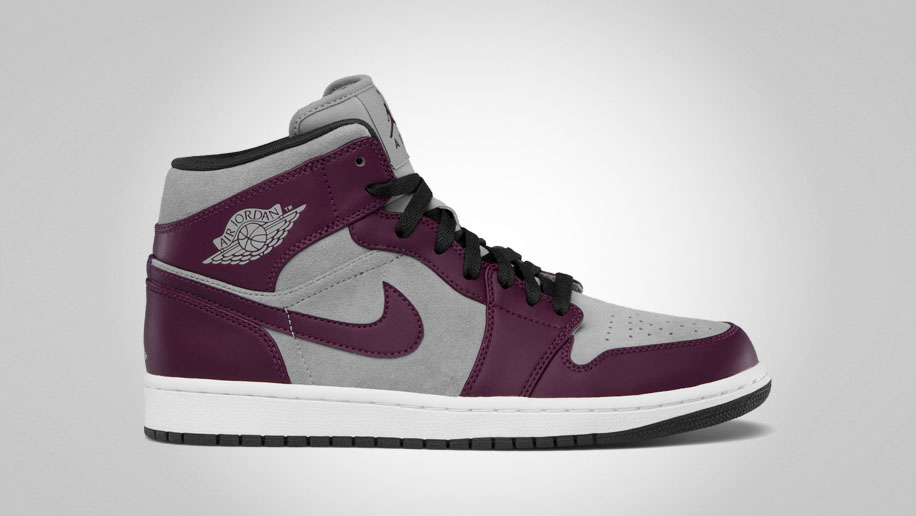 Air Jordan 1 Phat Bordeaux Stealth Black White 364770-605 (1)