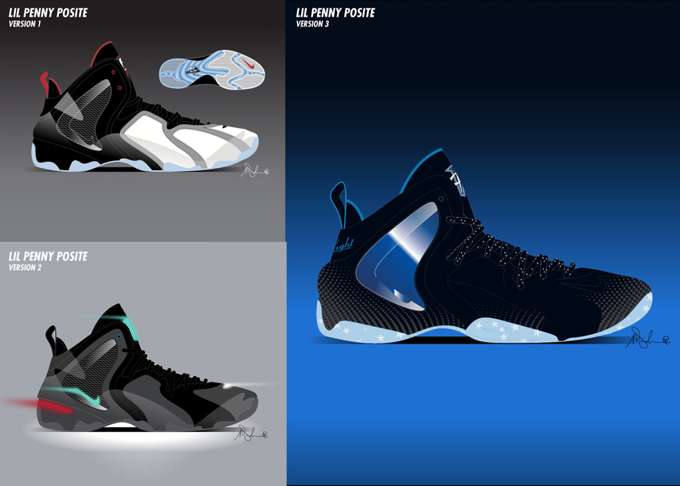 ee42e58c1c2 Sneaker Sketch of the Week    Marc Dolce s Nike Lil Penny Posite ...