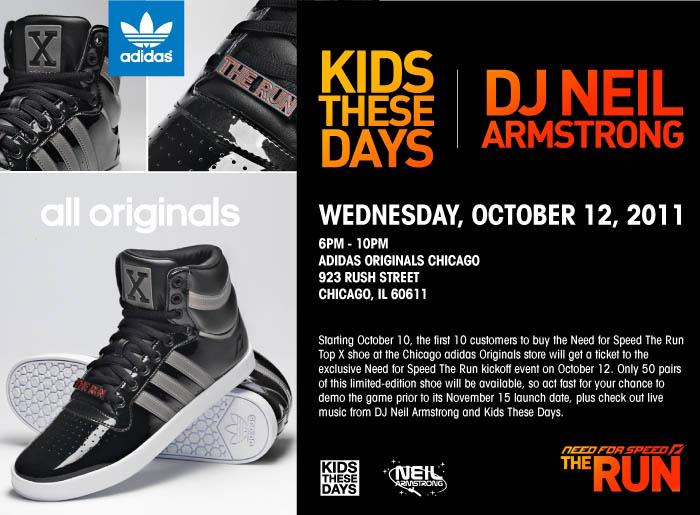 EA Sports x adidas Originals - Need for Speed Collection Flyer