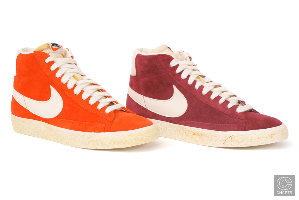 Nike Blazer Hi Vintage QS - Holiday 2010 Orange Burgundy
