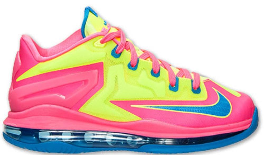 Nike LeBron 11 Low GS Volt/Photo Blue-Hyper Pink