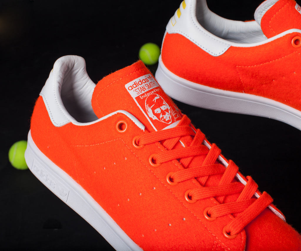 quite nice 5b4ec dd7e9 Pharrell x adidas Originals Stan Smith Tennis Orange