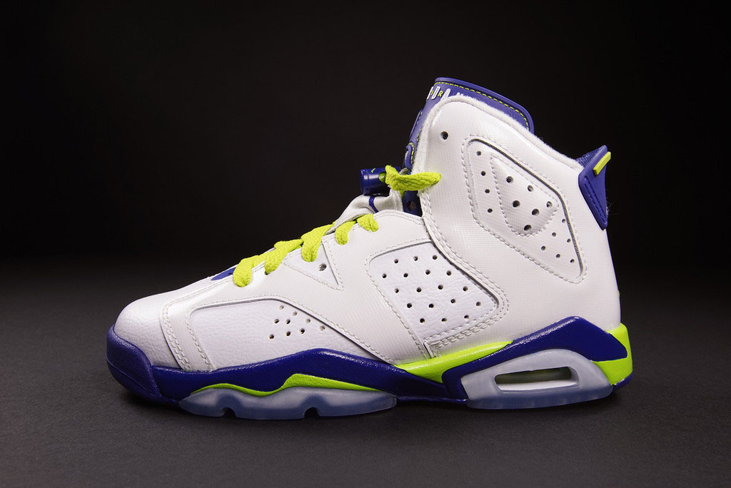 detailed look c4101 17bed Air Jordan VI 6 GS Fierce Green 543390-108 (1)
