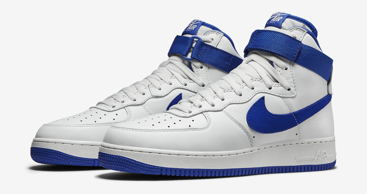 big sale 39d3c 0e51c Nike Air Force 1 High White Blue