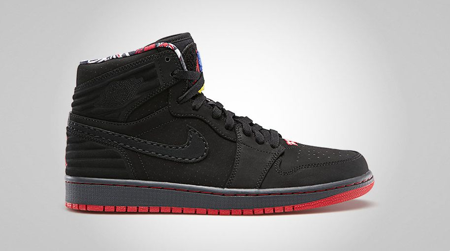 Air Jordan Retro I 1 '93 Black True Red Anthracite 580514-032 (1)