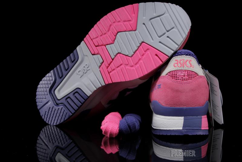 asics gel lyte III pink white purple outsole