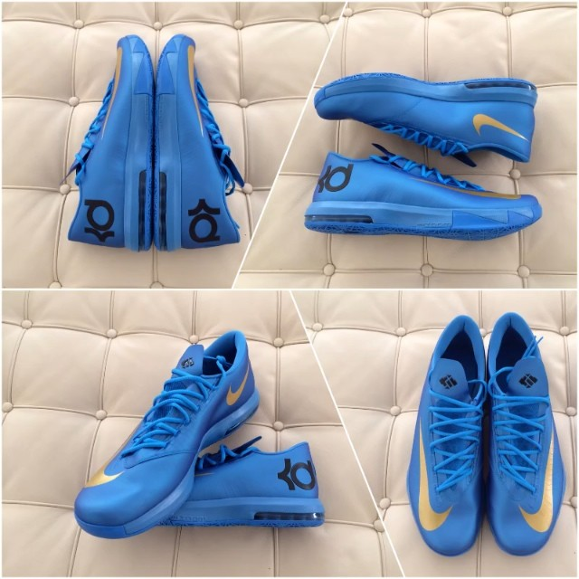 Nike KD VI 6 Blue Gold Finals PE