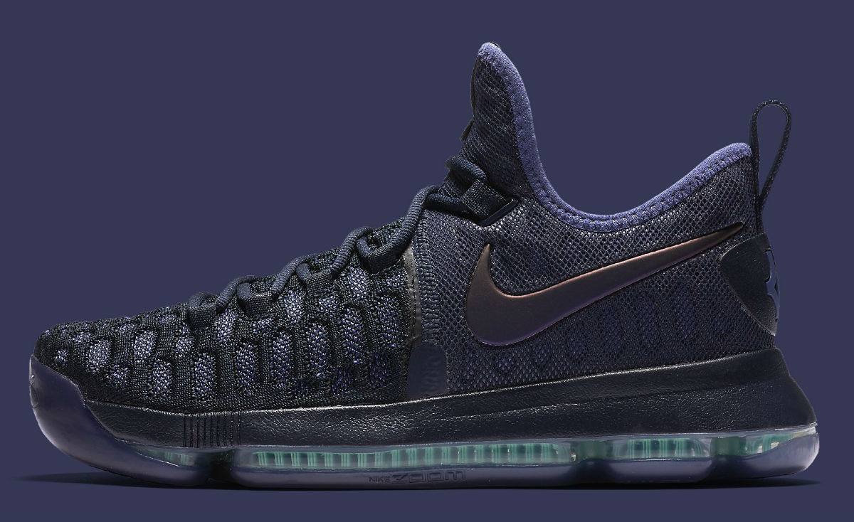 official photos c56c8 5dc1d Nike KD 9 Dark Purple Dust Release Date Side 843392-450