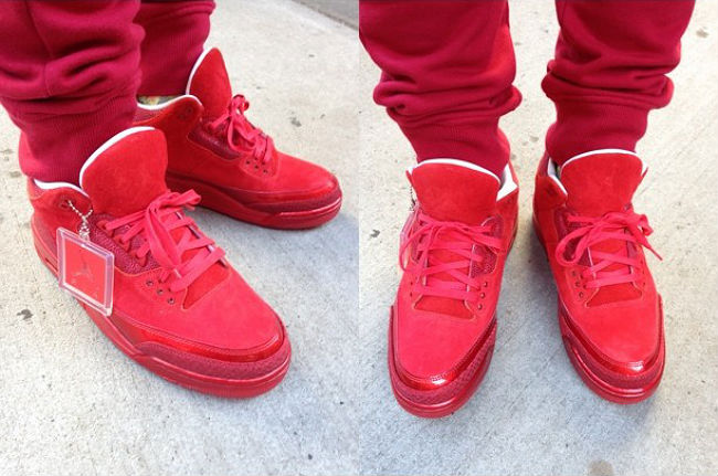 Trinidad James Wearing Air Jordan III 3 Retro Red Legends Of The Summer (2)