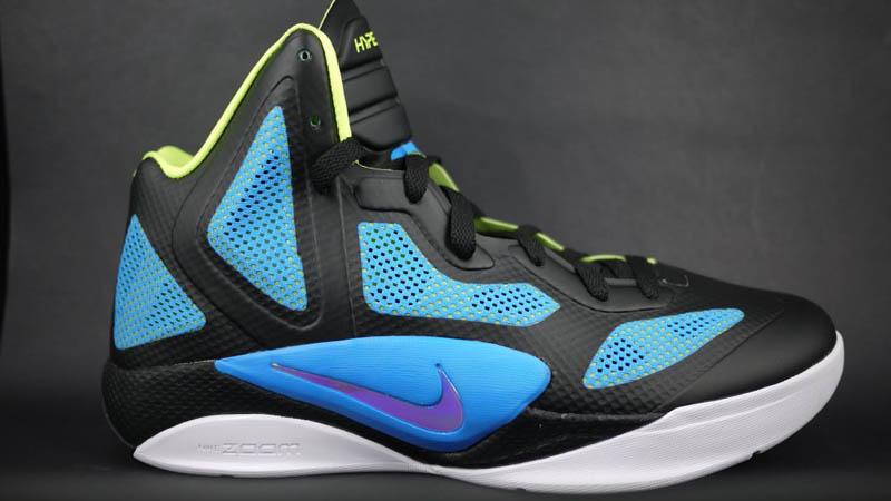 Nike Zoom Hyperfuse 2011 X Black Blue Metallic Luster