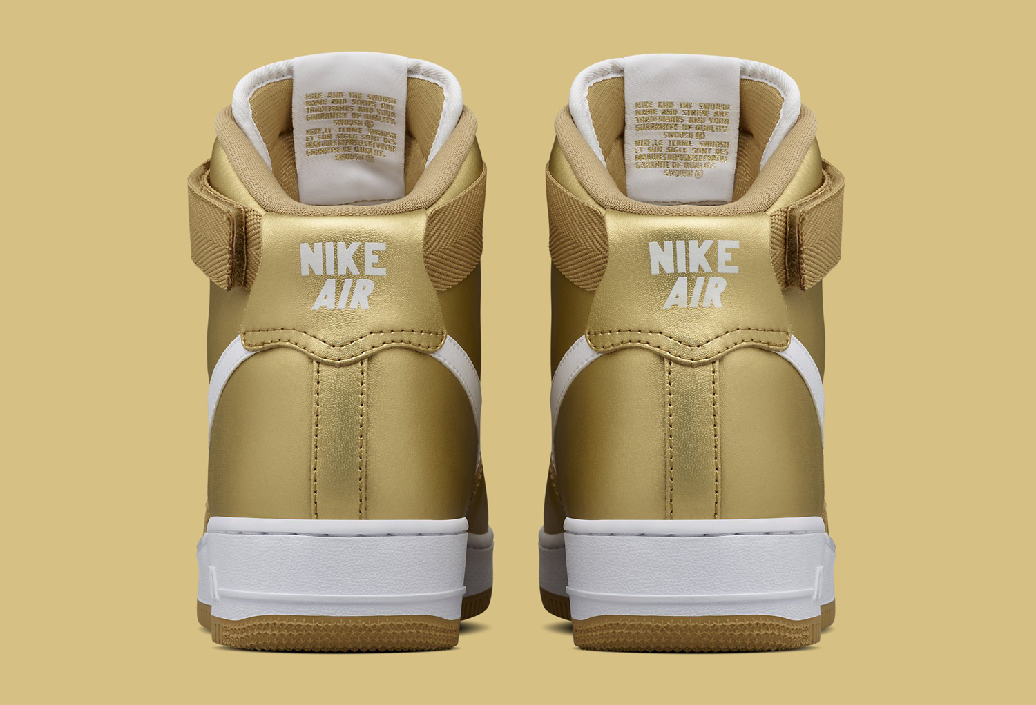 promo code e28d6 13f83 gold and white air force ones
