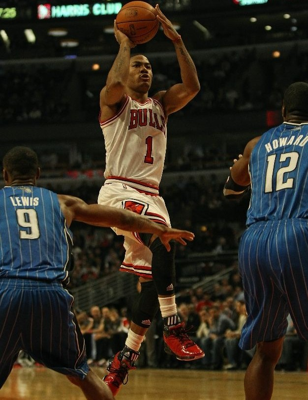 Derrick Rose wearing the adidas adiZero Rose