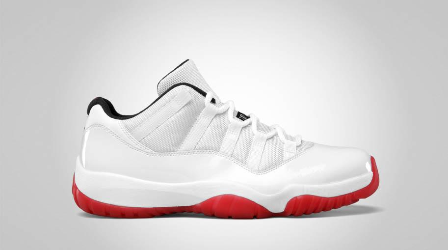 air jordan retro 11 red and white