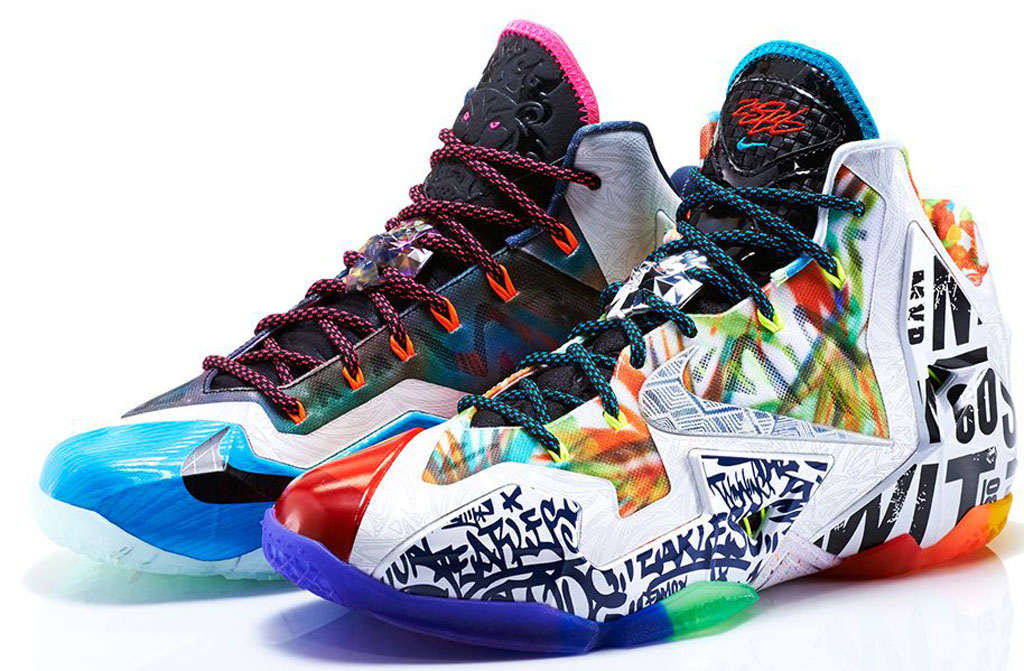 Nike LeBron 11 Premium  What The  650884-400 Black Lava Silver Ice-Galaxy  Blue 6550440e83f0