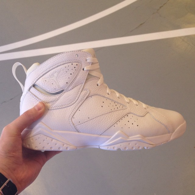 Air Jordan VII 7 All-White Sample
