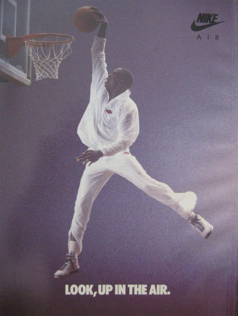 Michael Jordan 'Look, Up in the Air' Nike Air Jordan Poster (1987)