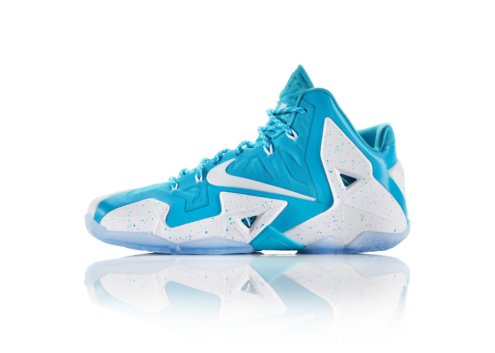 Nike LeBron 11 iD Preview blue speckle