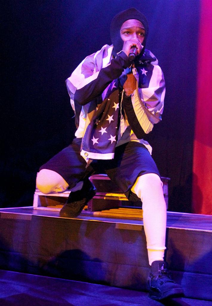 A$AP Rocky Wears Air Jordan 4 \