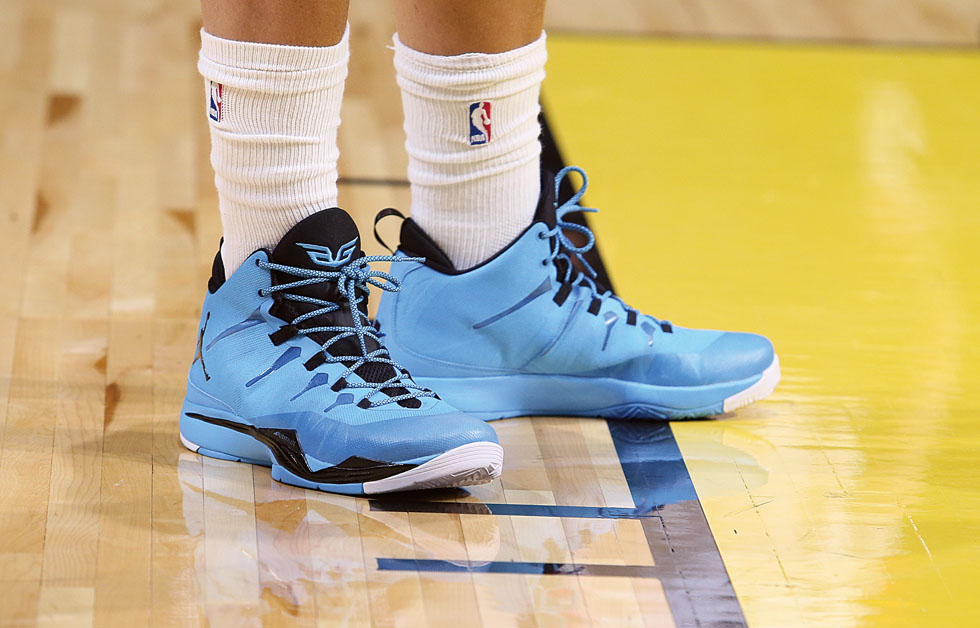 Blake Griffin wearing Jordan Super.Fly 2 All-Star Practice PE