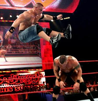John Cena wearing the Reebok Pump Showstopper