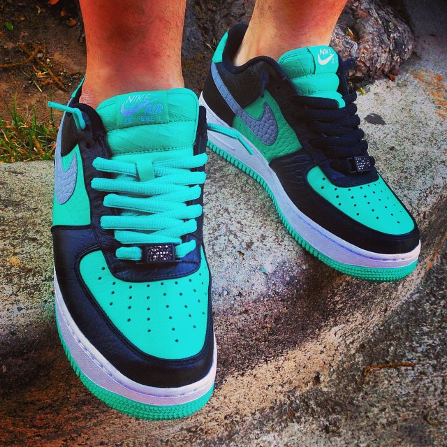 ccb49deaf8 Air Force 1 Low. NIKEiD Tiffany Designs (8)