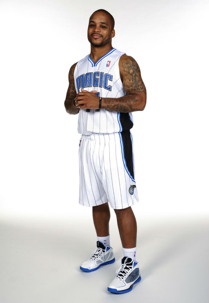 Jameer Nelson wearing Reebok SubLite Pro Rise