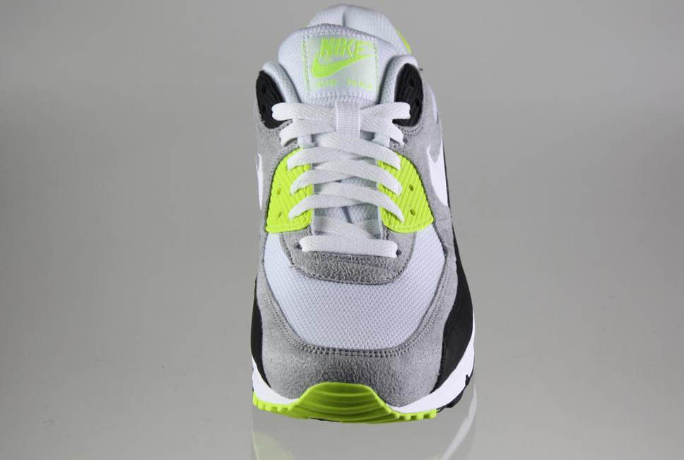 Nike Air Max 90 Black White Medium Grey Volt 325018-048 (3)