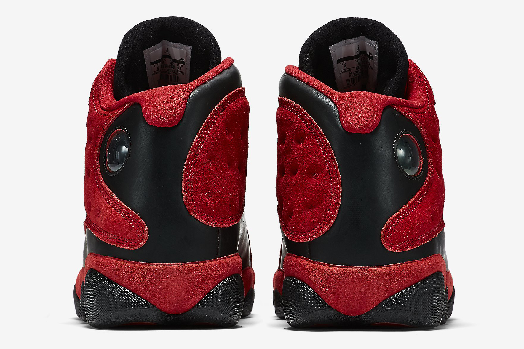 6e111bee6d1183 Image via Nike Singles Day Air Jordan 13 888164-601 Heel
