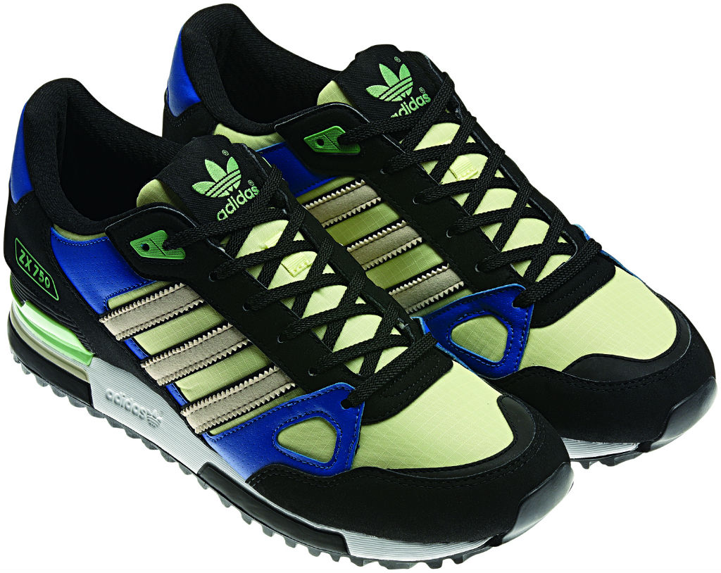 adidas Originals ZX 750 Black Blue Green Spring Summer 2013 Q23662 (2)