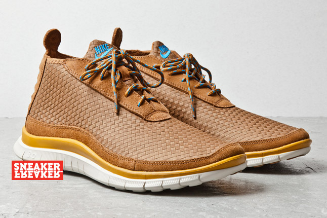 Nike Free Chukka Ale Brown Gold Suede