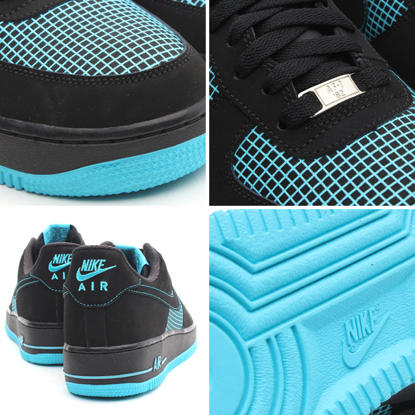 nike air force 1 low black gamma blue details