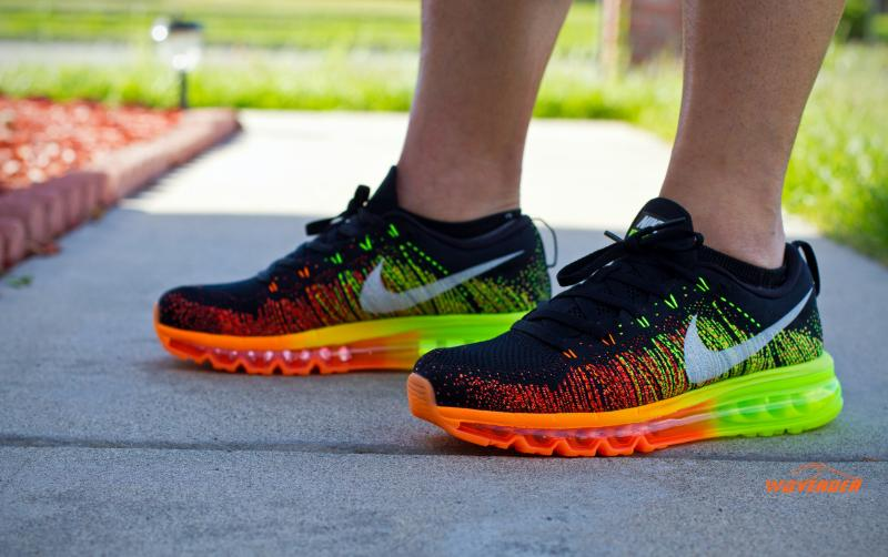 WMNS Nike Flyknit Max Black Multi color Rainbow Womens Running