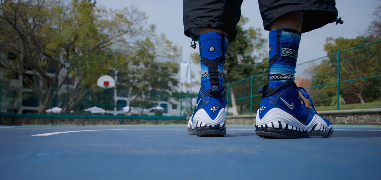azmodeuz6 wearing the 'Memphis' Nike Air Penny V 5