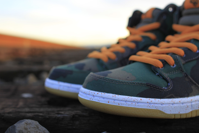 510 Skate Shop x Nike SB Dunk High Fog Camo toe