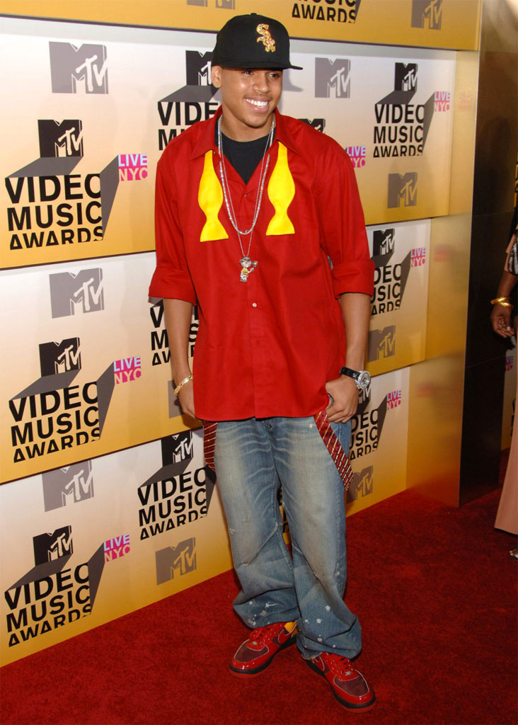 Chris Brown wearing Nike Air Force 1 Chamber of Fear Hater