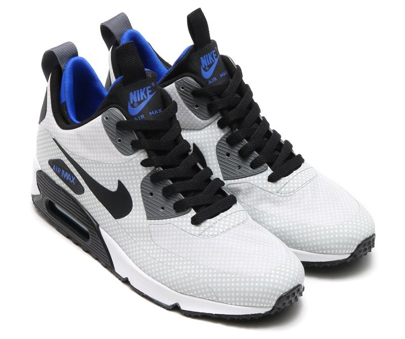 Nike Air Max 90 Utility Print Color  Night Silver Black-Game Royal-Dark  Grey Style    806850-001 2427e4d22