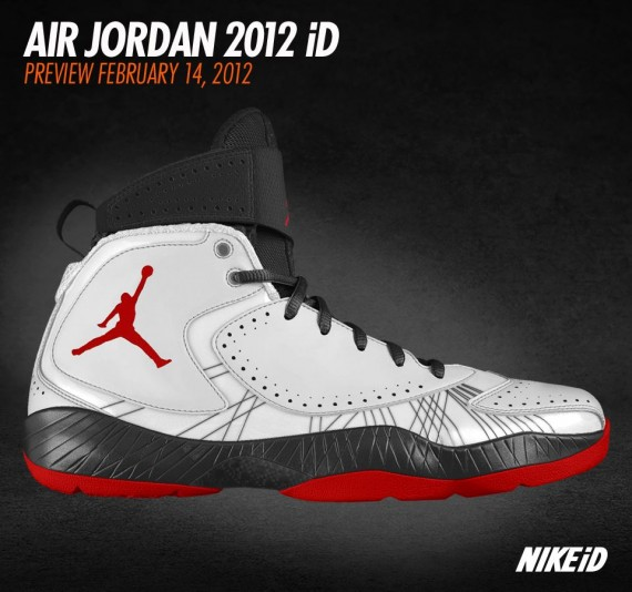Enjoy a look at several Air Jordan 2012 iD mock-ups below, all of which  will be available for purchase February 14th when the Air Jordan 2012  officially ...
