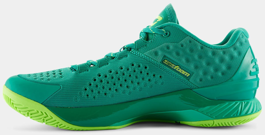 under armour curry 1 low green yellow