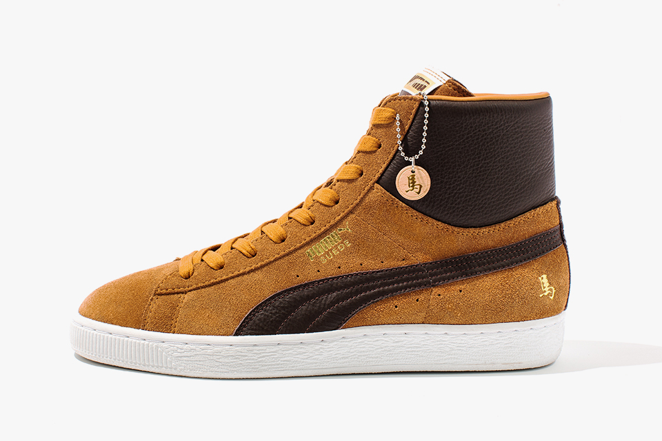 PUMA Suede Mid Year of the Horse in Sudan Brown
