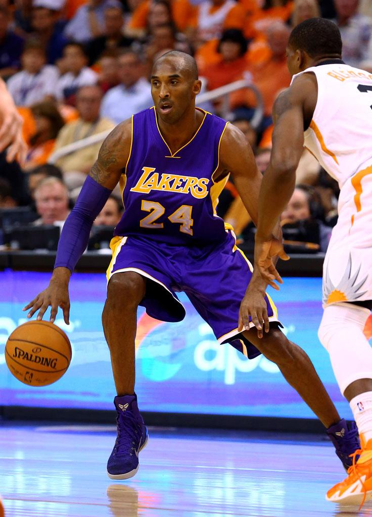 sports shoes 0c604 975f8 Kobe Bryant wearing Nike Kobe 9 Elite Purple (3)