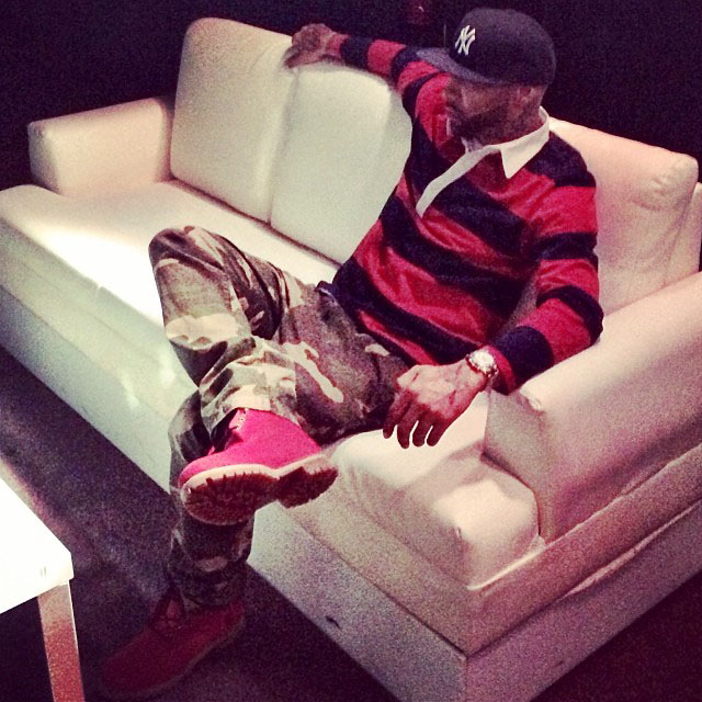 Joe Budden wearing VILLA x Timberland JTM Boot