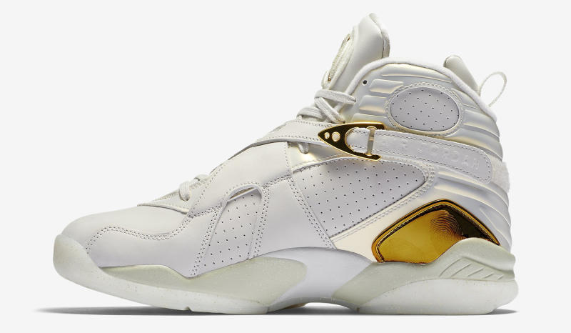 """d264a2ab755 Air Jordan 8 """"Championship Pack"""" Color: Light Bone/Metallic Gold-White  Release Date: 06/25/16. Style #: 832821-030. Price: $250"""