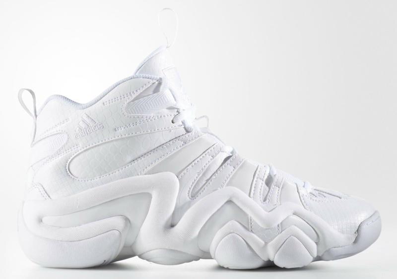 buy popular e67ee 3a74c white adidas crazy 8