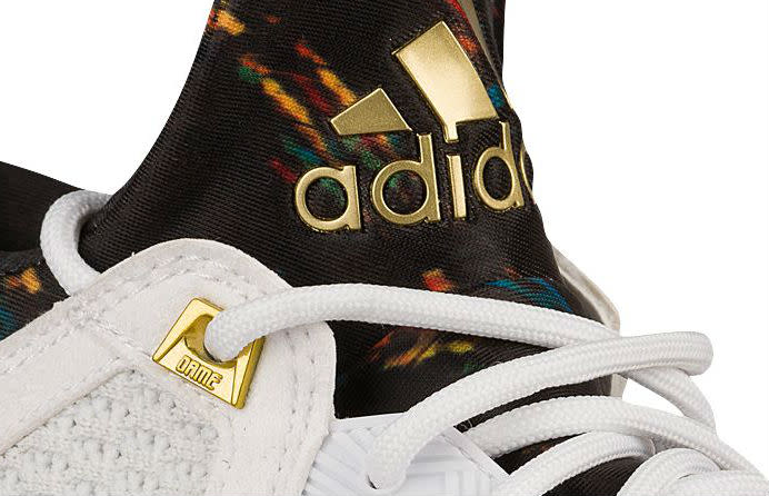 adidas D Lillard 2 White/Black-Gold-Multicolor (2)