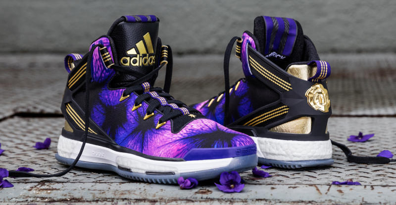best service 526ef 4e7db Damian Lillard and Derrick Rose s Flowery New Adidas. The latest