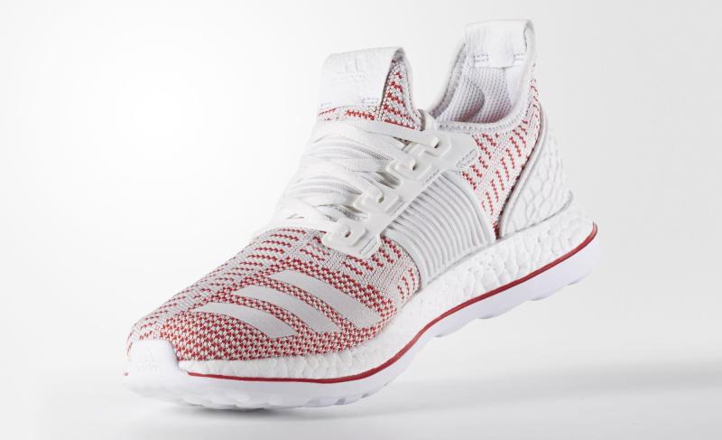 36cb4c3da2d61 adidas Pureboost ZG LTD Crystal White FTW White Vivid Red AQ2926