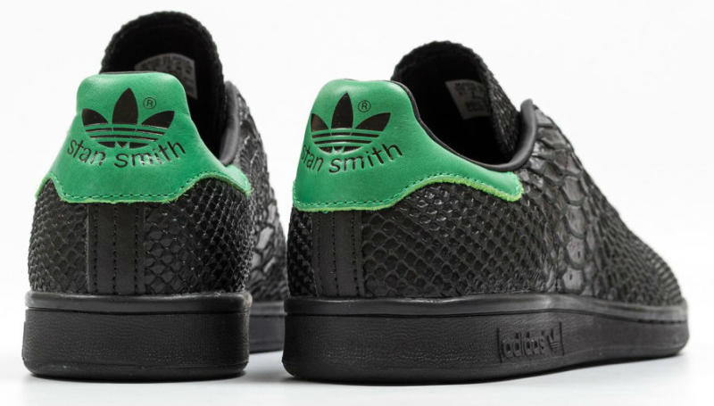 adidas stan smith black and green