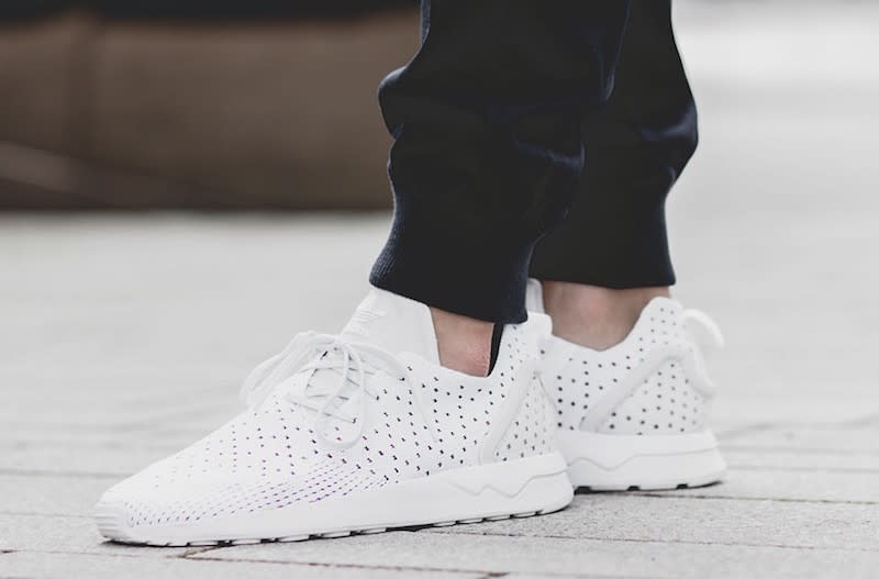 Adidas originals Zx Flux Primeknit Running Shoe in White Lyst