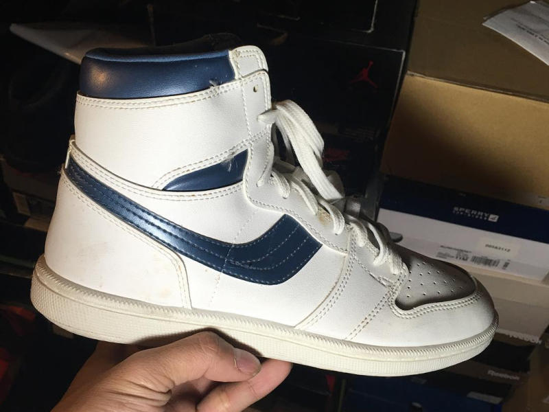Next To Real Retro S Fake Retro S: Fake Air Jordan 1 Metallic Navy Original Sneakers
