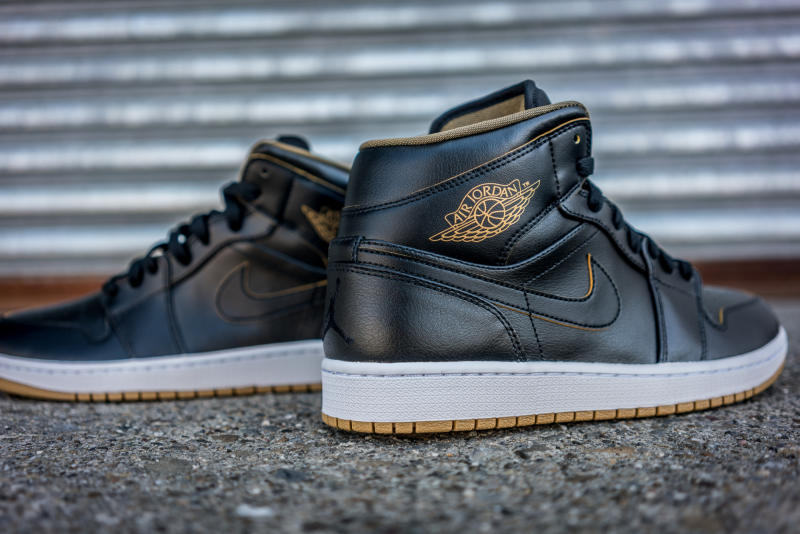 air jordan 1 black&white golden